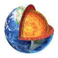 Earth cross section. Lower Mantle version. Royalty Free Stock Photo