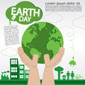 Earth day april nd illustration conceptual vector eps Stock Photos