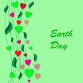 Earth day background abstract on the green phone Stock Photography