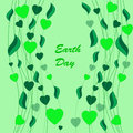 Earth day background abstract on the green phone Royalty Free Stock Images
