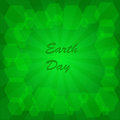 Earth day background abstract on the green phone with rays Royalty Free Stock Photography