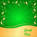 Earth day background abstract on the green phone with rays Stock Photos