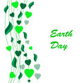 Earth day background abstract isolated on the white phone Royalty Free Stock Photos