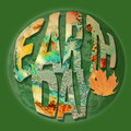 Earth Day concept with earth inspired letters Stock Images
