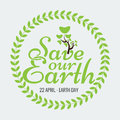 Earth Day Eco Green Vector Design. Circle Organic Leafs
