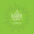 Earth Day Green World Globe Tr...