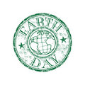 Earth day grunge rubber stamp Stock Photo