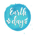 Earth day. Hand drawn typography poster. Conceptual handwritten phrase. T shirt lettered calligraphic design.