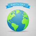 Earth day holiday poster. World map. Vector illustration