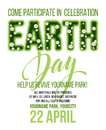 Earth Day poster. Vector illustration with the Earth day grass lettering