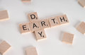 Earth Day Scrabble Concept Royalty Free Stock Photos