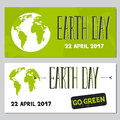 Earth Day set of banners