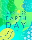 Earth Day typography design