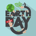 Earth Day Typography Design.