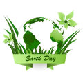 Earth day vector background