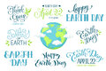 Earth day wording