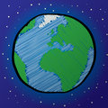Earth Drawing Royalty Free Stock Photos