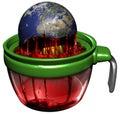 Earth exploitation Royalty Free Stock Photo
