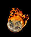 Earth On Fire Stock Images