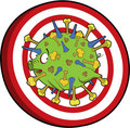 Earth Flu virus target Stock Images