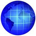 Earth globe Стоковое Изображение