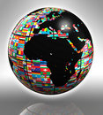 Earth globe africa and europe Stock Images