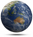 Earth globe australia and oceania elements of this image furnished by nasa Royalty Free Stock Photos