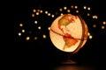 Earth globe on black Royalty Free Stock Photo