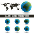 Earth Globe Collection Royalty Free Stock Photos