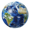 Earth globe 3d illustration. Atlantic Ocean view Royalty Free Stock Photo