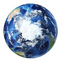 Earth globe 3d illustration. South Pole view Royalty Free Stock Photo