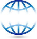 Earth globe or earth in color, globe and tourism logo