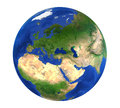 Earth Globe Europe View Isolated Royalty Free Stock Photo