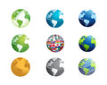 earth globe icon set illustration design Royalty Free Stock Photo