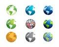 earth globe icon set illustration design Royalty Free Stock Photo