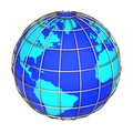 Earth globe icon on a white background side of the atlantic ocean Royalty Free Stock Image