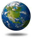 Earth globe of north america Royalty Free Stock Photo
