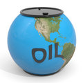 Earth globe - oil barrel. Royalty Free Stock Photos