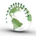 Earth globe, people together Stock Images