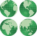 Earth globe planet view. Royalty Free Stock Photography