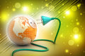 Earth globe with power cable Royalty Free Stock Photo