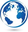 Earth, globe, world globe, logo, sign Royalty Free Stock Photo