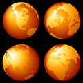 Earth globes Stock Photo