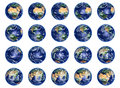 Earth Globes collection Royalty Free Stock Photos