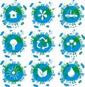 Earth globes , eco concept icons in vector Royalty Free Stock Photo