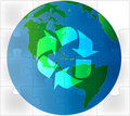 Earth green puzzle recycling Stock Images