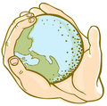 Earth hands Royalty Free Stock Images