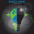 Earth hour conceptual illustration vector eps Royalty Free Stock Image