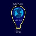Earth Hour environmental movement illustration