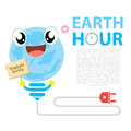 Earth hour illustration